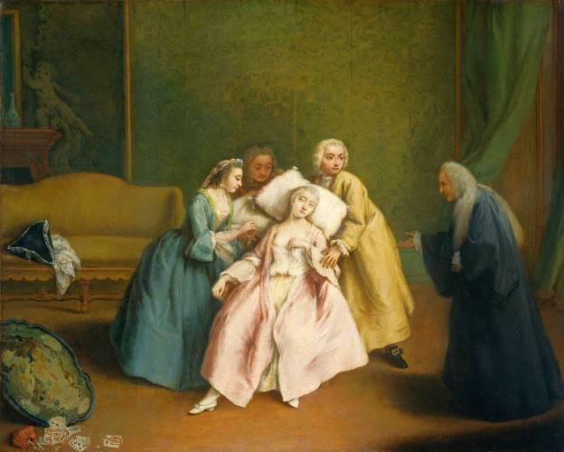 Közönséges ájulás 18. századi festményen