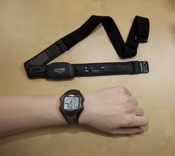 Csuklós pulzusmérő óra és jeladó mellkaspánt