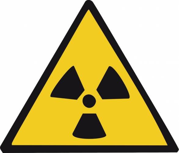 Sugárveszélyt jelző tábla