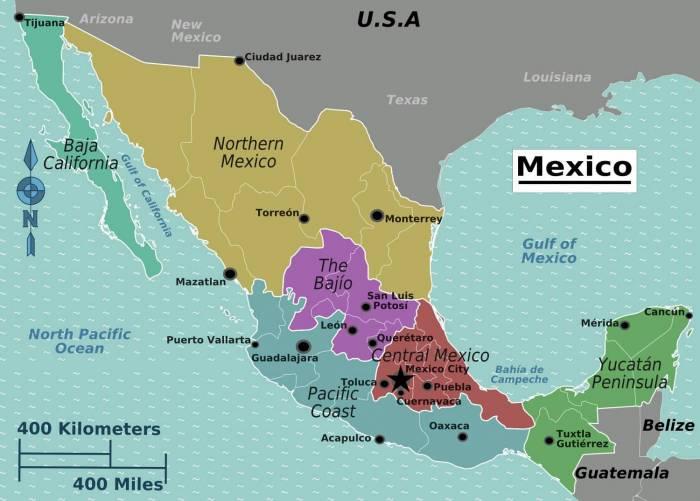 Mexikó (térképvázlat)