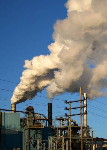 Füstölő gyárkémények