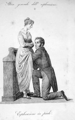 Nőgyógyászati vizsgálat az 1800-as évek elejéről