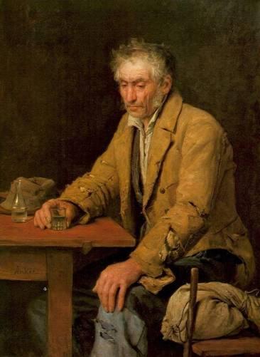 Albert Anker: Der Trinker (festmény)