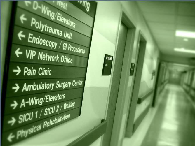 Kórházi betegirányító tábla