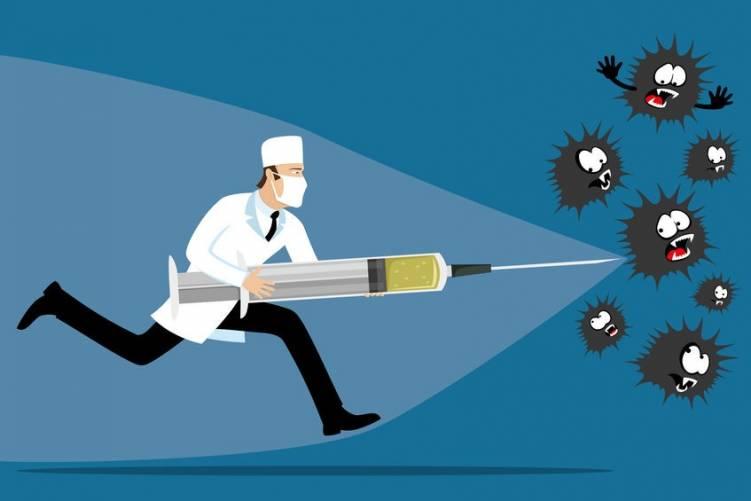 Fecskendő, vírusok menekülőre fogják (illusztráció)